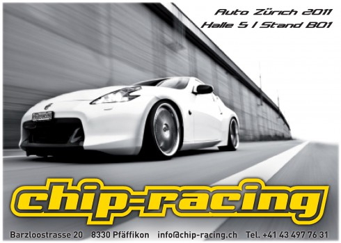 Auto Racing News  Media on Chip Racing An Der Auto Z  Rich 2011 Mit Nissan 370z Von 02  November