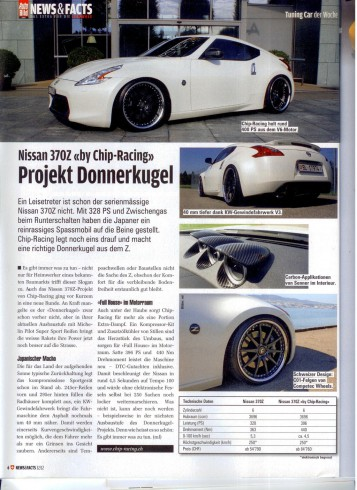 Auto Racing Auto Racing on Chip Racing Nissan 370z Supercharger In    Auto Bild    Magazine
