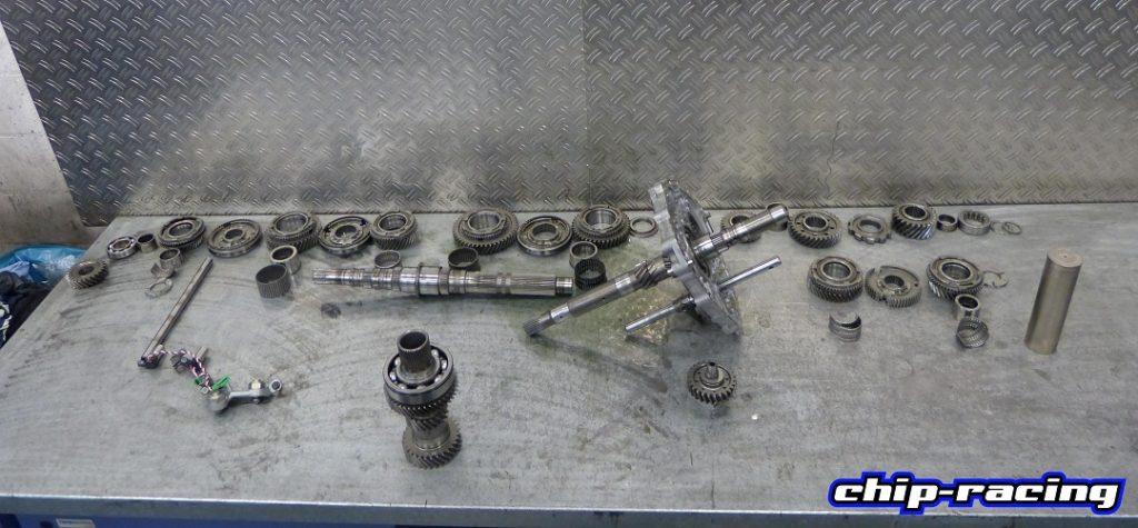 GTR Getriebe Revision: GR6 komplett zerlegt